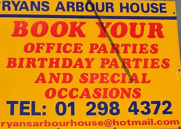 Ryans Book a party